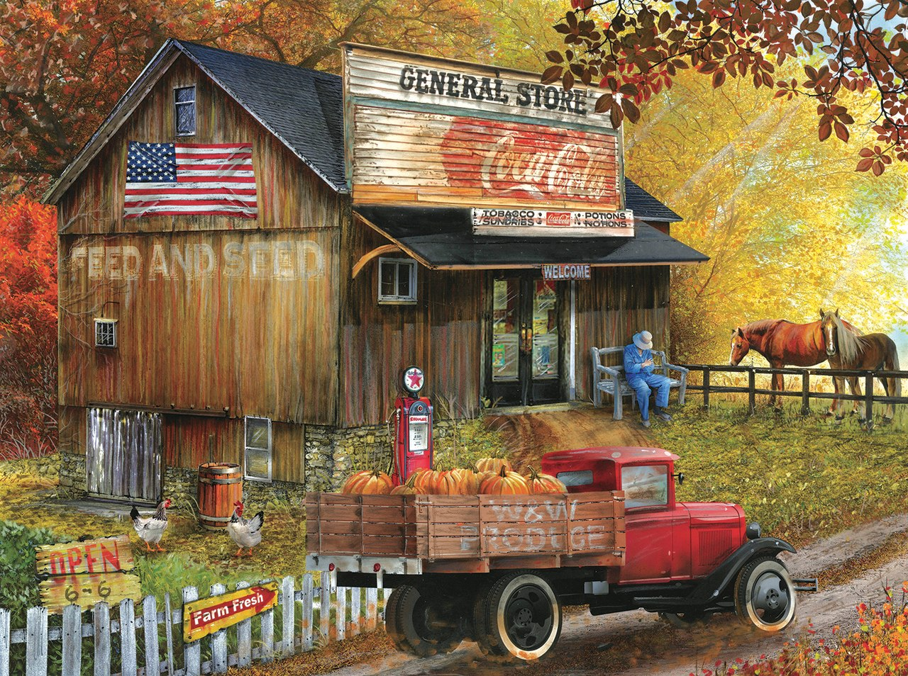 Seed and Feed  General Store - 1000pc Jigsaw Puzzle By Sunsout  			  					NEW