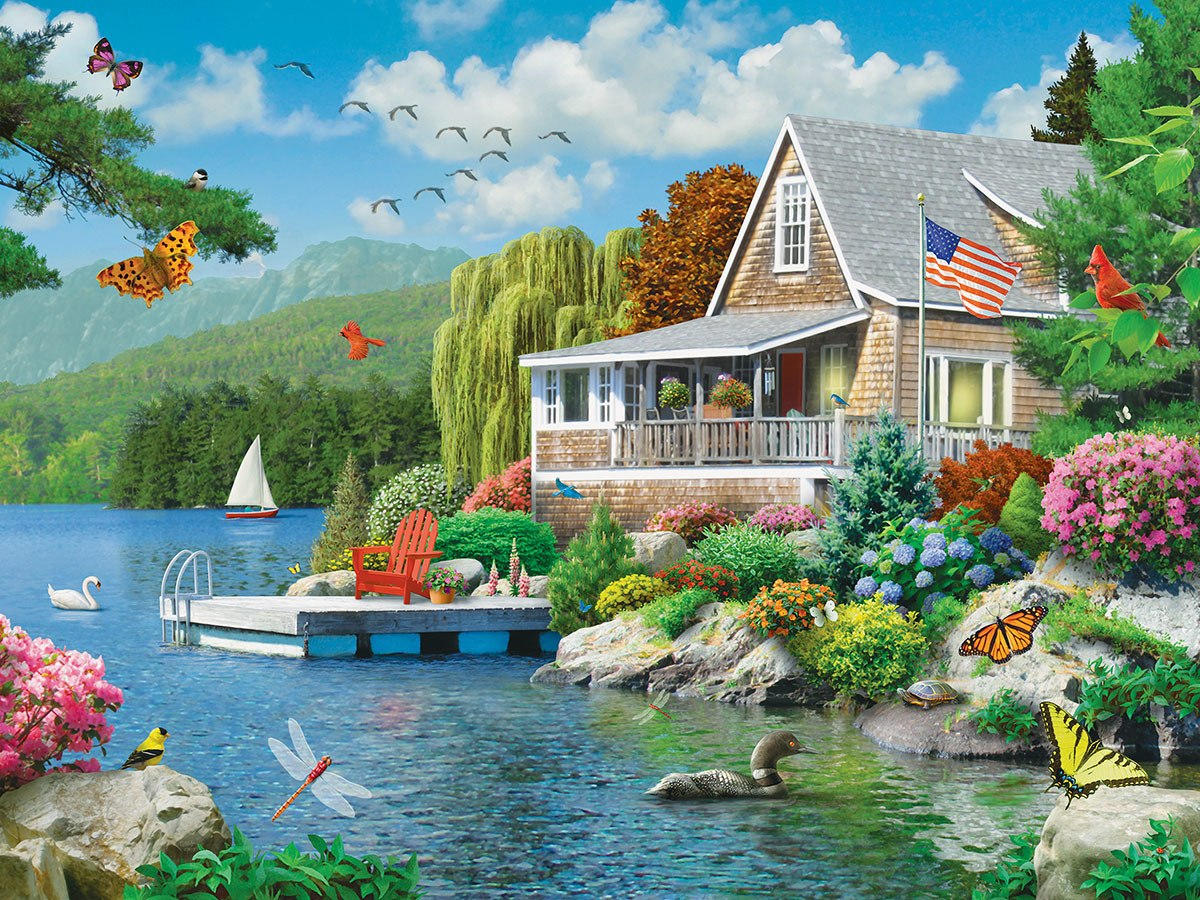 Lakeside Memories - 300pc EzGrip Jigsaw Puzzle by Masterpieces  			  					NEW