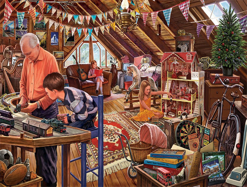 Attic Treasures - 1000pc Jigsaw Puzzle by White Mountain