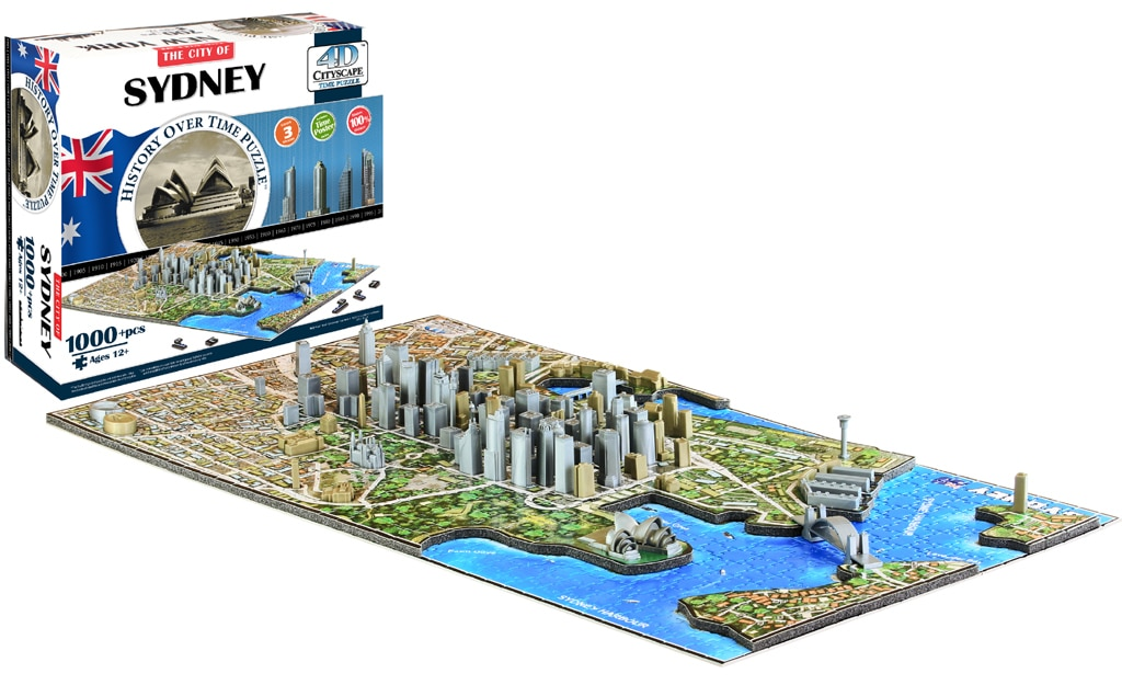 Sydney - 1000pc 4D Cityscape Educational Jigsaw Puzzle