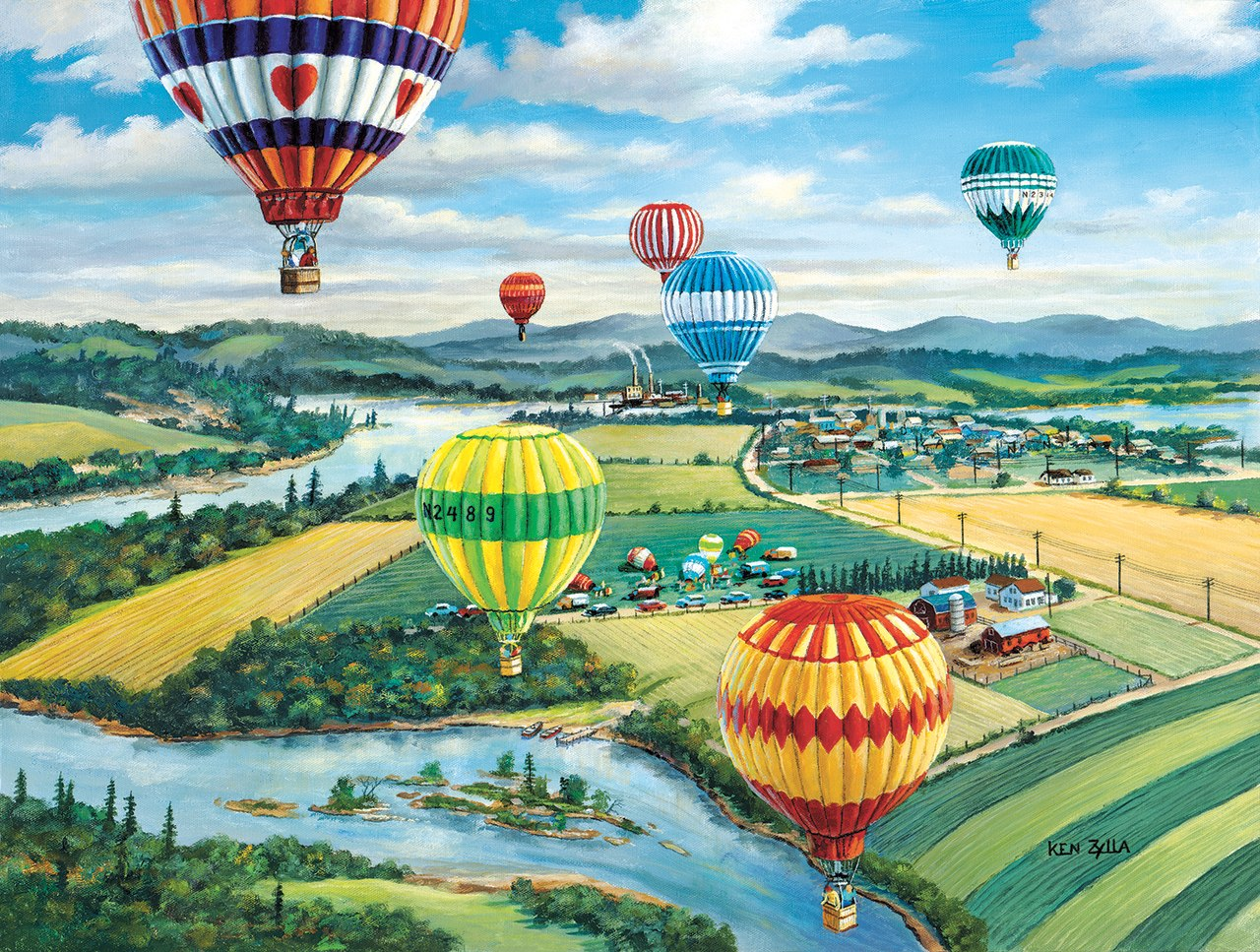Ballooner's Rally - 300pc Jigsaw Puzzle By Sunsout  			  					NEW