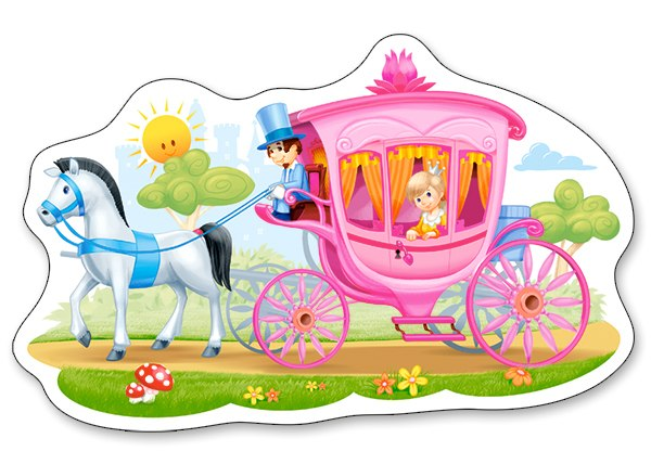 Princess in a Carriage - 15pc Jigsaw Puzzle By Castorland