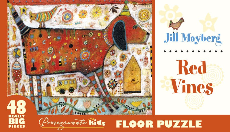 Mayberg: Red Vines - 48pc Floor by Pomegranate  			  					NEW