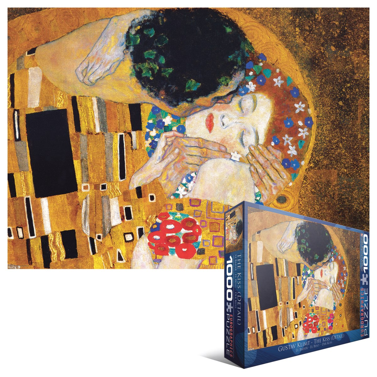 Gustav Klimt: The Kiss (Detail) - 1000pc Jigsaw Puzzle by Eurographics