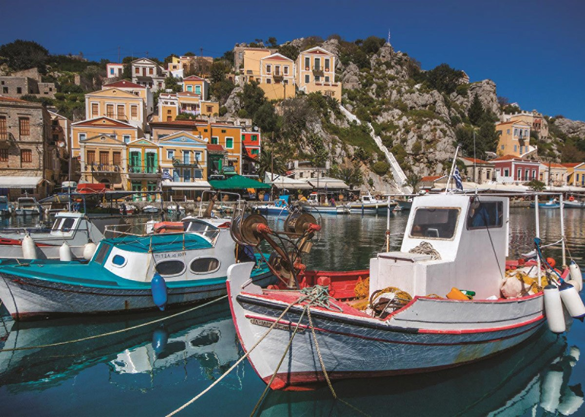 Symi, Greece - 1000pc Jigsaw Puzzle By Jumbo  			  					NEW