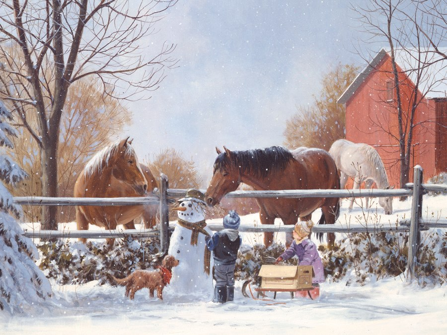 Frosty's Friends - 1000pc Jigsaw Puzzle by Jack Pine  			  					NEW