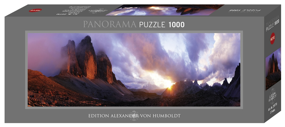 3 Peaks - 1000pc Panoramic Jigsaw Puzzle By Heye  			  					NEW - image 1