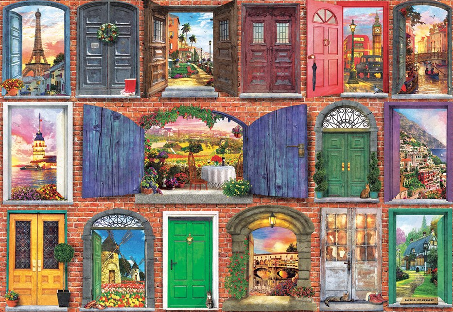 Doors Of Europe - 1500pc Jigsaw Puzzle by Educa