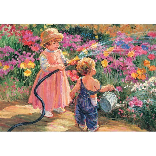 Flower Tots: Gaeden Of Innocence - 500pc Jigsaw Puzzle by Holdson  			  					NEW