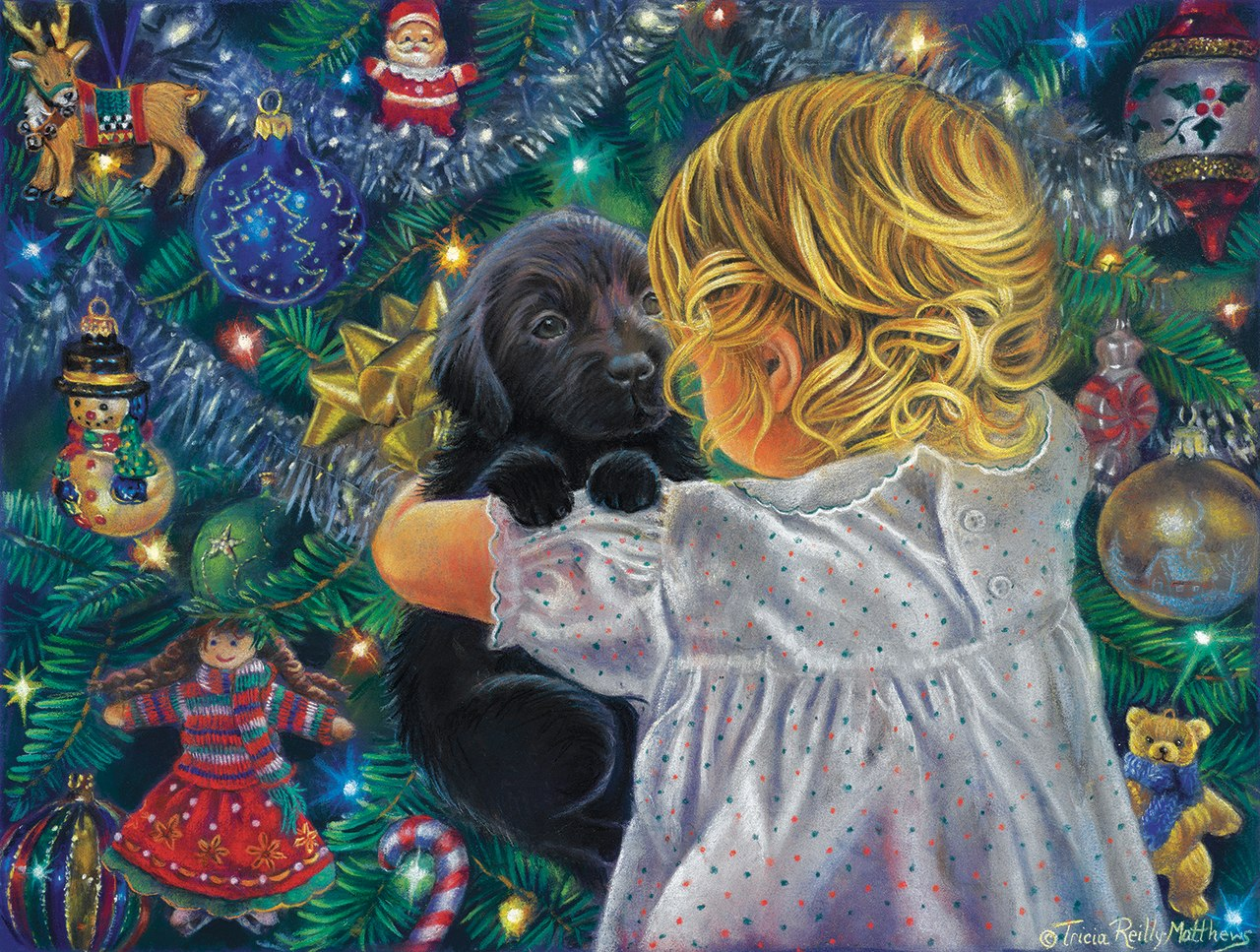 A Christmas Puppy - 300pc Jigsaw Puzzle By Sunsout  			  					NEW