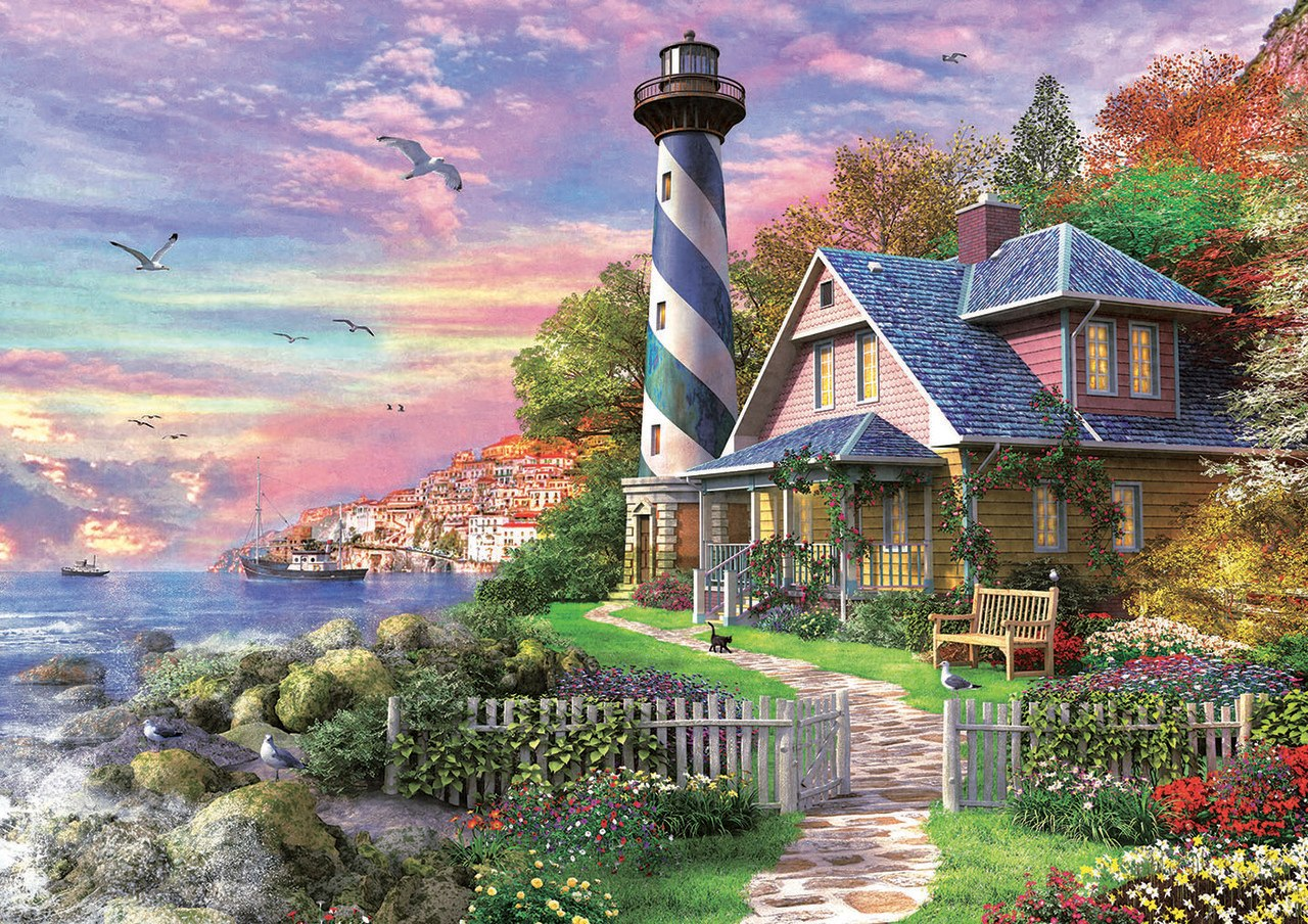 Lighthouse at Rock Bay - 1000pc Jigsaw Puzzle by Educa  			  					NEW