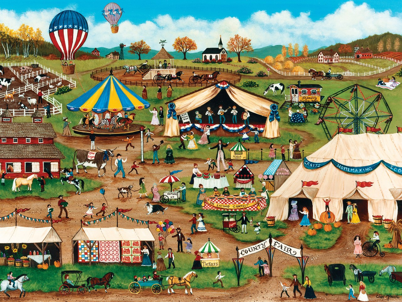 Country Fair - 750pc Jigsaw Puzzle by Masterpieces  			  					NEW