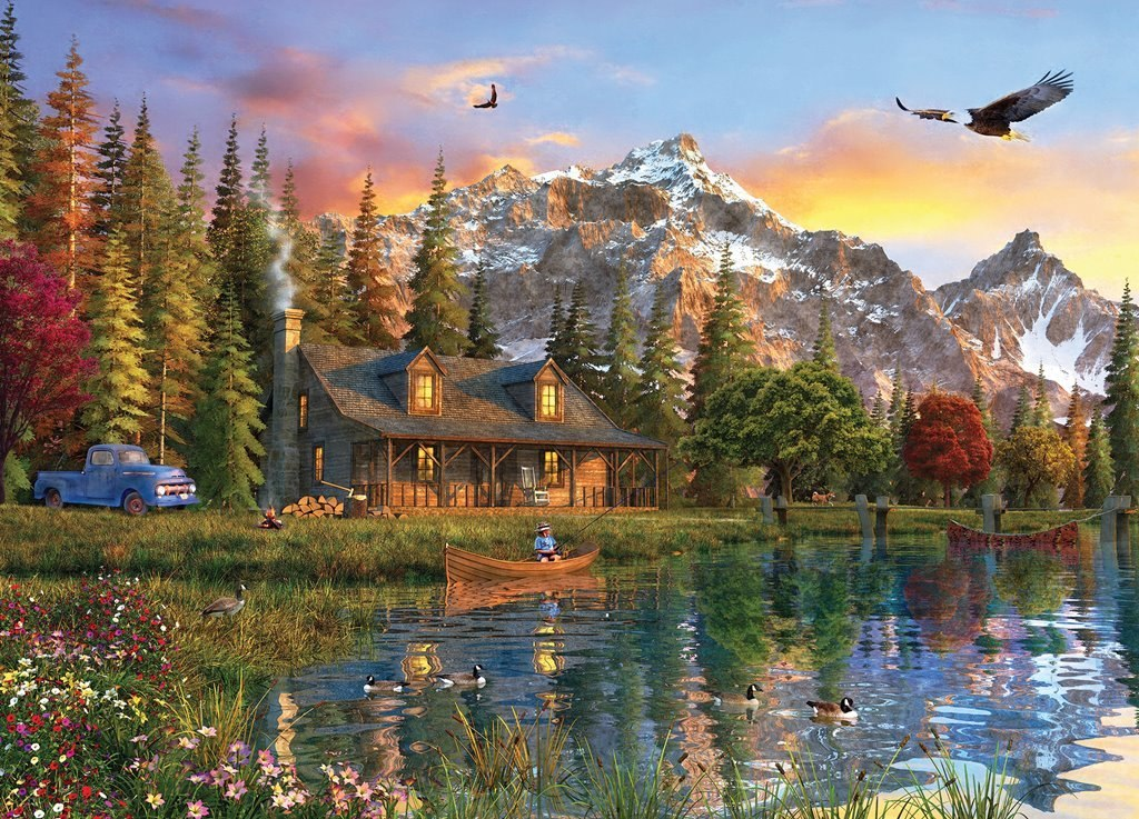 Time Away: Eagle View - 1000pc Jigsaw Puzzle by MasterPieces