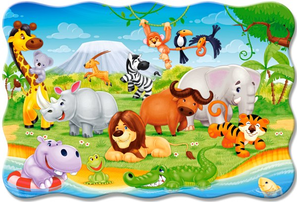 African Animals - 20pc Jigsaw Puzzle By Castorland