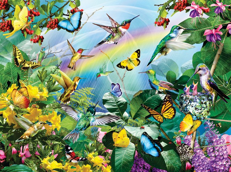 Hummingbird Sancutary - 1000pc Jigsaw Puzzle By Sunsout