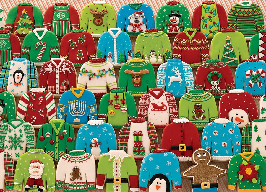 Ugly Xmas Sweaters Original - 1000pc Jigsaw Puzzle by Cobble Hill