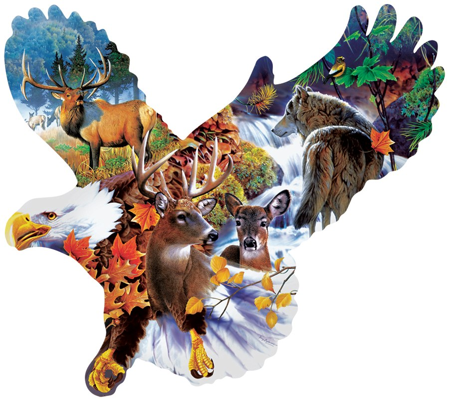Forest Eagle - 1000pc Jigsaw Puzzle by Sunsout  			  					NEW
