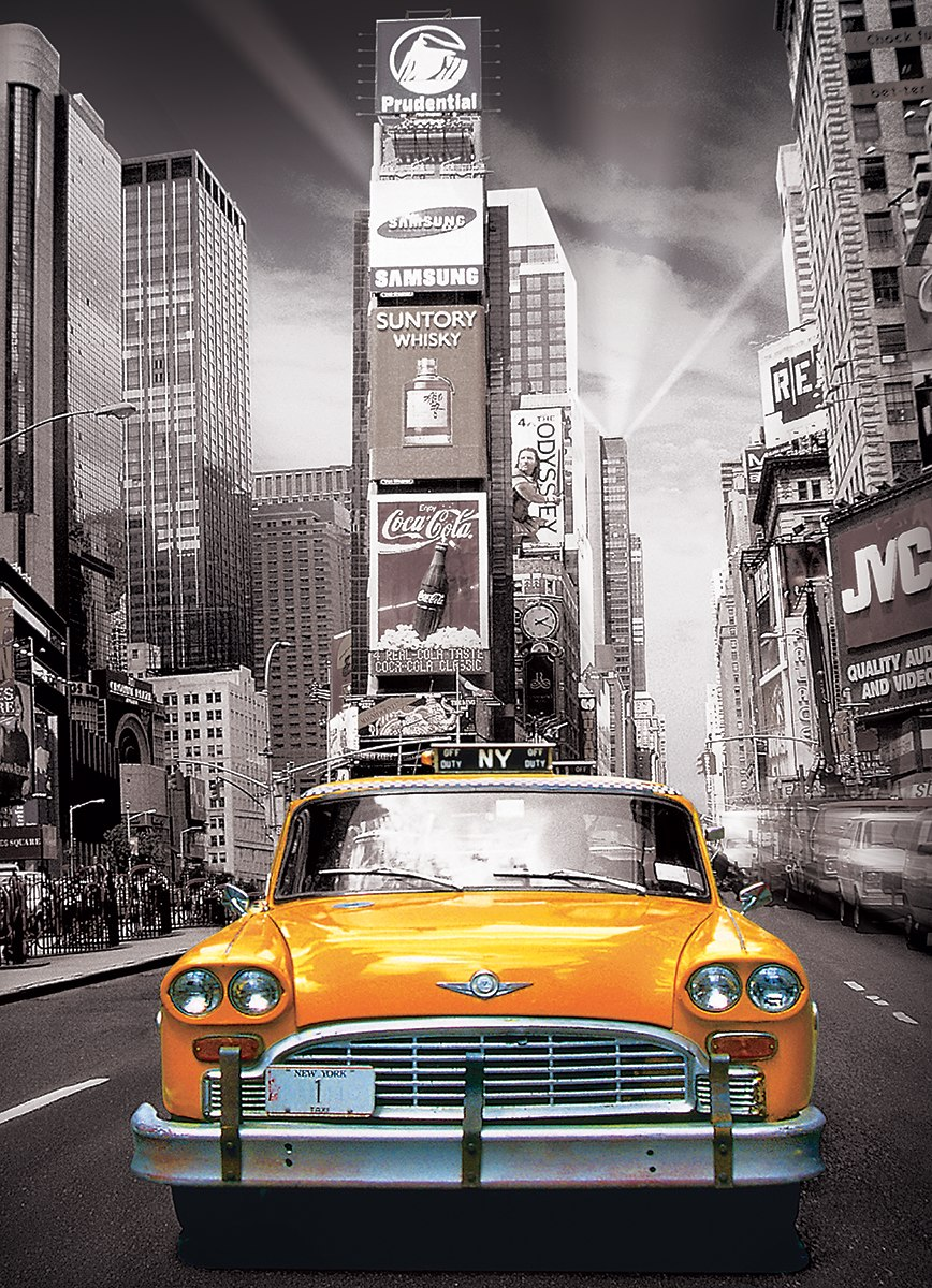 New York City: Yellow Cab - 1000pc Jigsaw Puzzle by Eurographics
