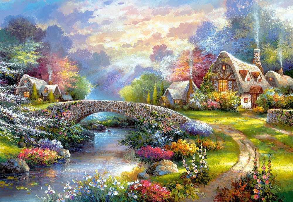 Springtime Glory - 1000pc Jigsaw Puzzle By Castorland