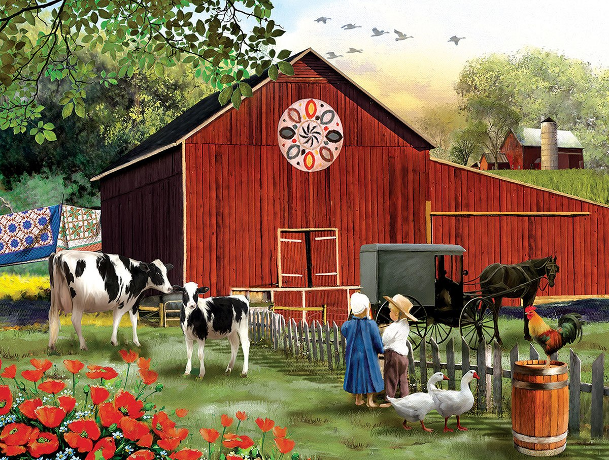 Country Serenity - 300pc Large Format Jigsaw Puzzle By Sunsout  			  					NEW