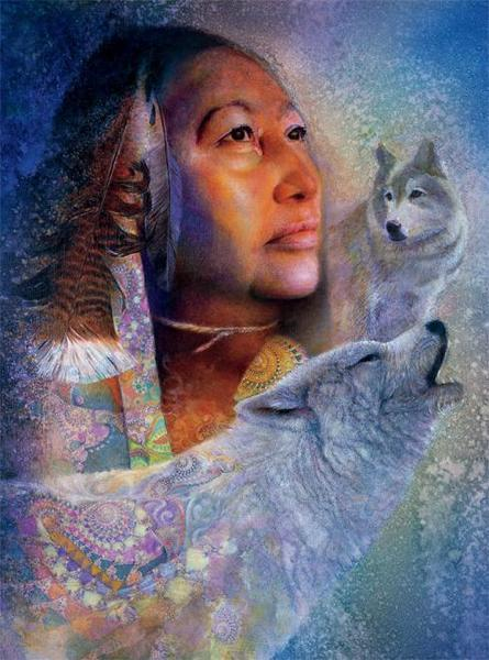 Native Spirit: Spirits Mist - 1000pc Jigsaw Puzzle by Ceaco  			  					NEW