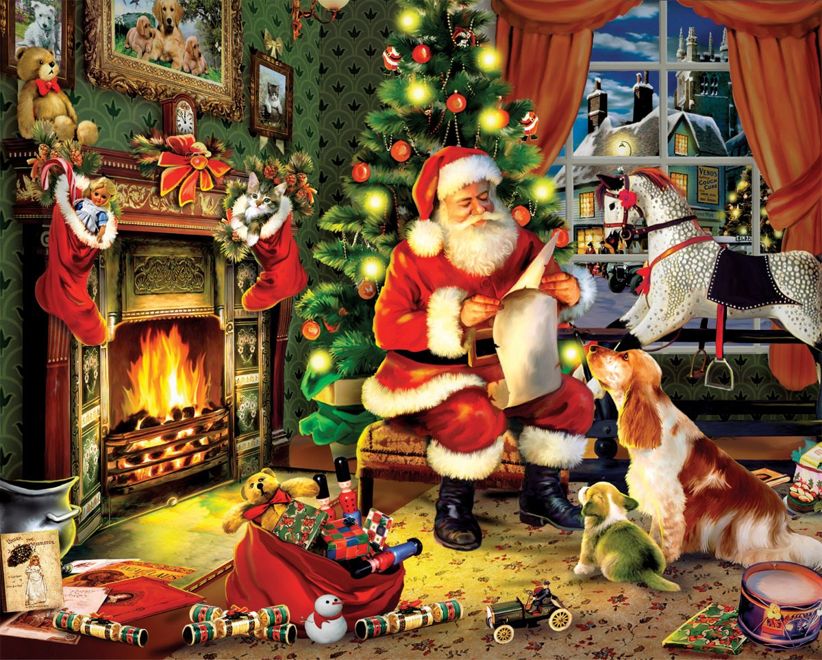 Santa's List - 300pc EZ Grip Jigsaw Puzzle By White Mountain