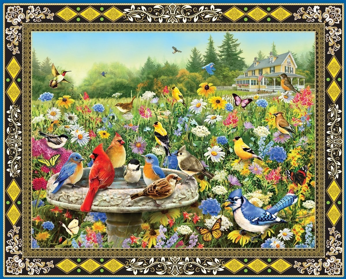 Birds & Butterflies - 1000pc Jigsaw Puzzle By Springbok  			  					NEW