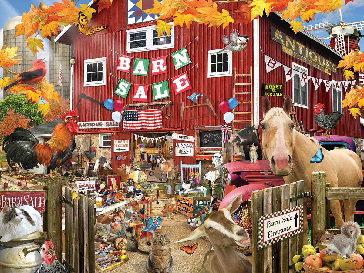 Barn Sale - 1000pc Jigsaw Puzzle By White Mountain