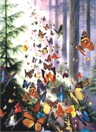 Butterfly Woods - 1000pc Jigsaw Puzzle by Anatolian