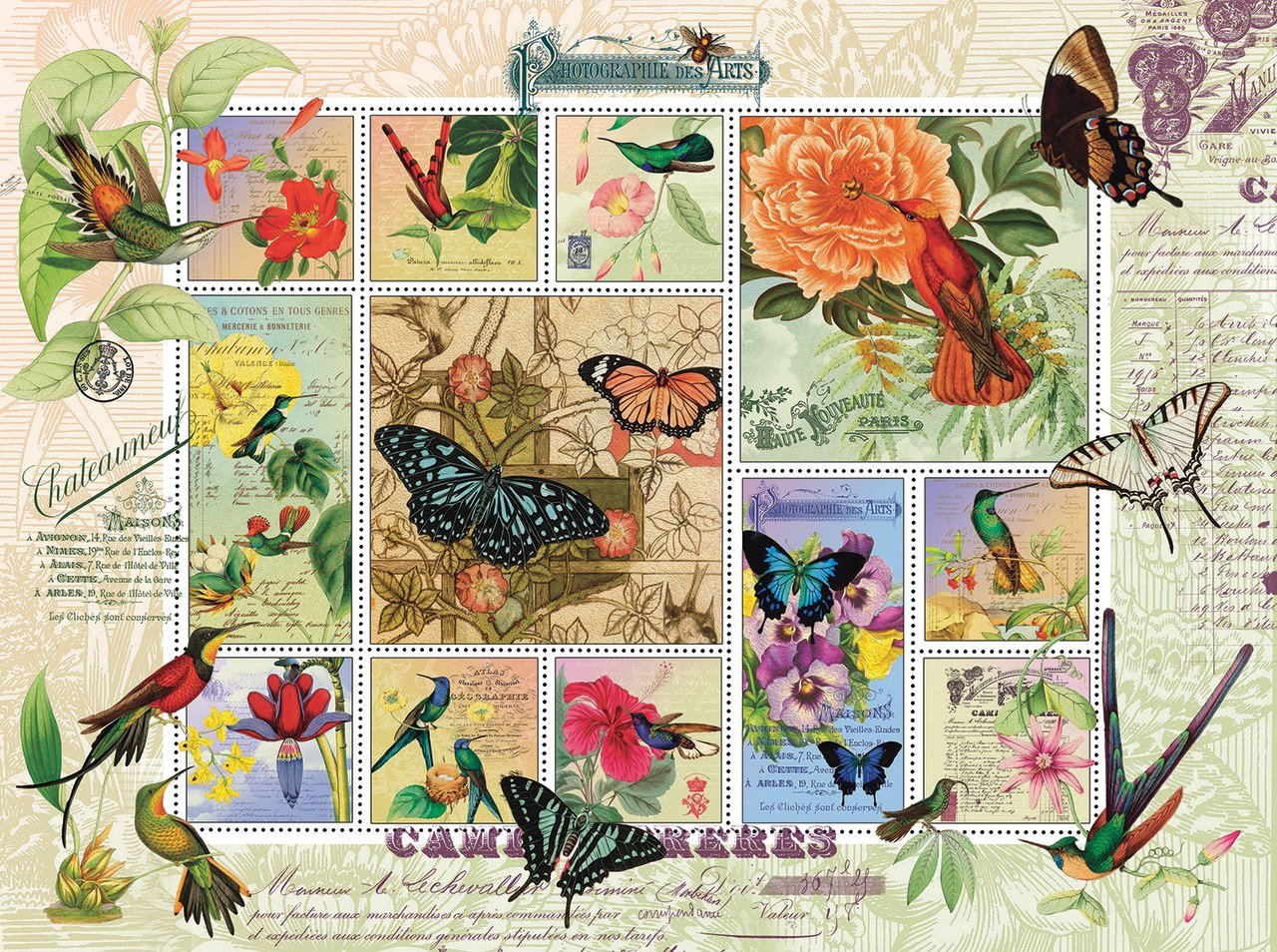 Butterfly and Hummingbird Flight - 1000pc Jigsaw Puzzle by Sunsout  			  					NEW