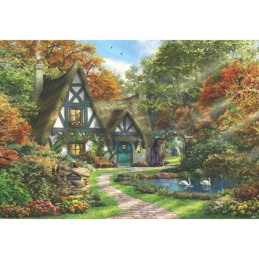 The Autumn Cottage - 2000pc Jigsaw Puzzle by Anatolian