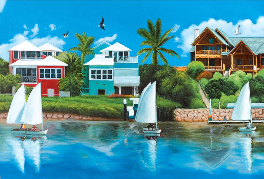 Waterfront Vacation  - 1000pc Jigsaw Puzzle by Lafayette Puzzle Factory