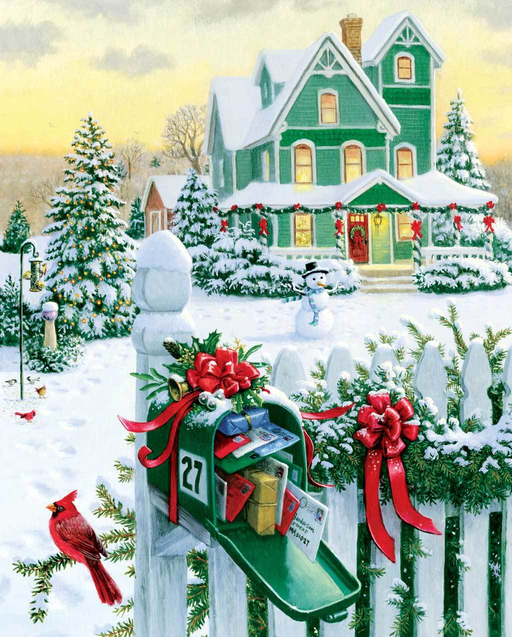 Holiday Mail - 1000pc Jigsaw Puzzle by Springbok (discon)
