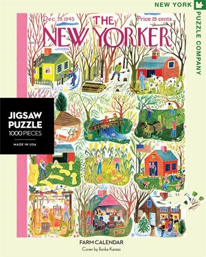 Farm Calendar - 1000pc Jigsaw Puzzle by New York Puzzle Co.