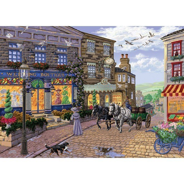Main Streets: Dress Shop on Hill - 1000pc Jigsaw Puzzle by Holdson  			  					NEW