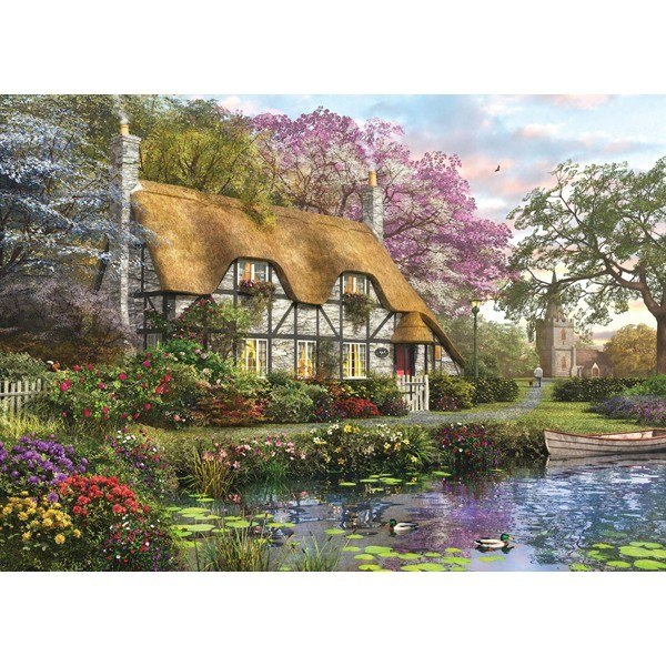 Picture Perfect III: White Stone Cottage - 1000pc Jigsaw Puzzle by Holdson  			  					NEW