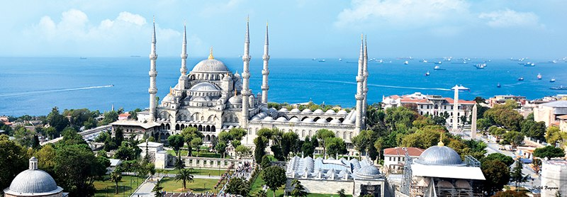 Sultan Ahmed Mosque - 1000pc Panoramic Jigsaw Puzzle by Anatolian