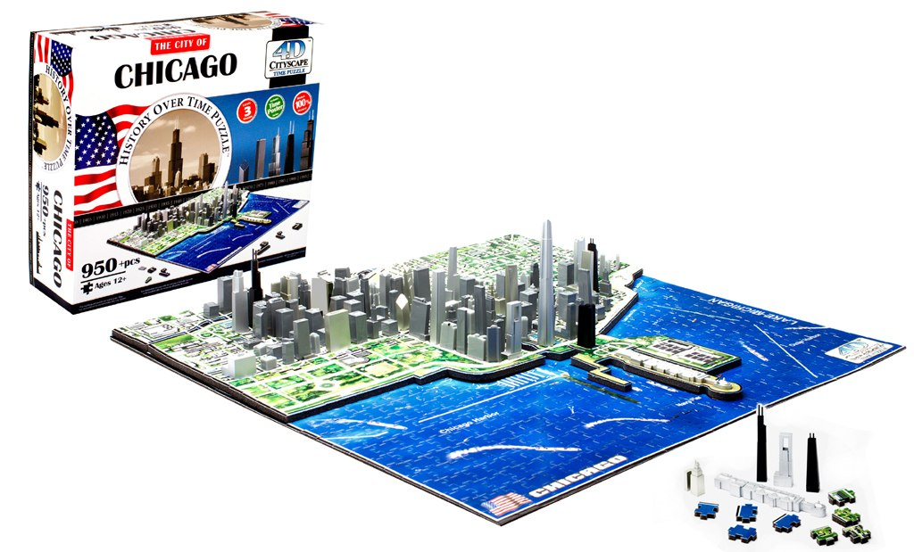 Chicago - 950pc 4D Cityscape Educational Jigsaw Puzzle