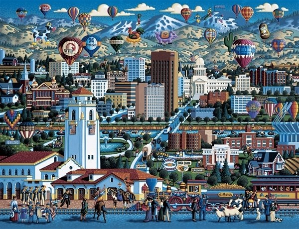 Boise - 500pc Jigsaw Puzzle by Dowdle