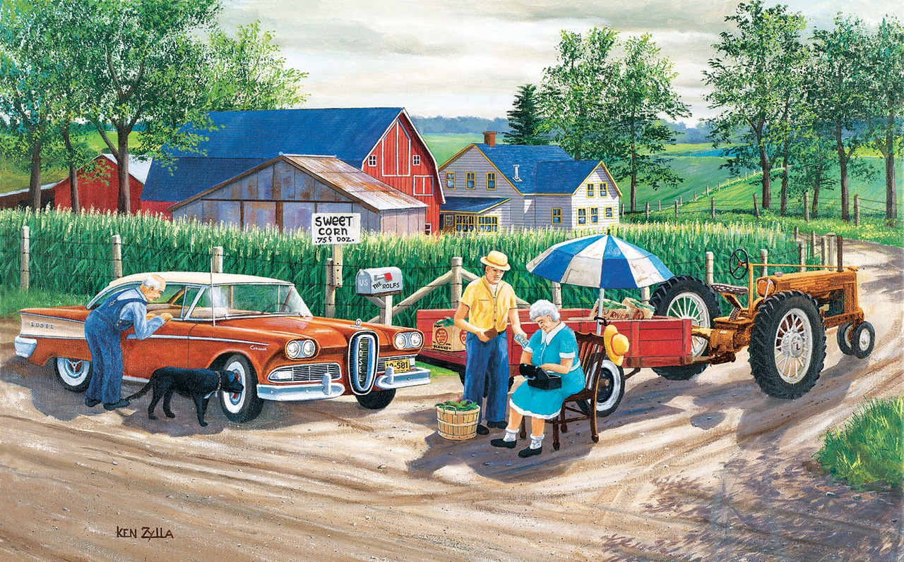 Doc's New Edsel - 300pc Jigsaw Puzzle by Sunsout  			  					NEW