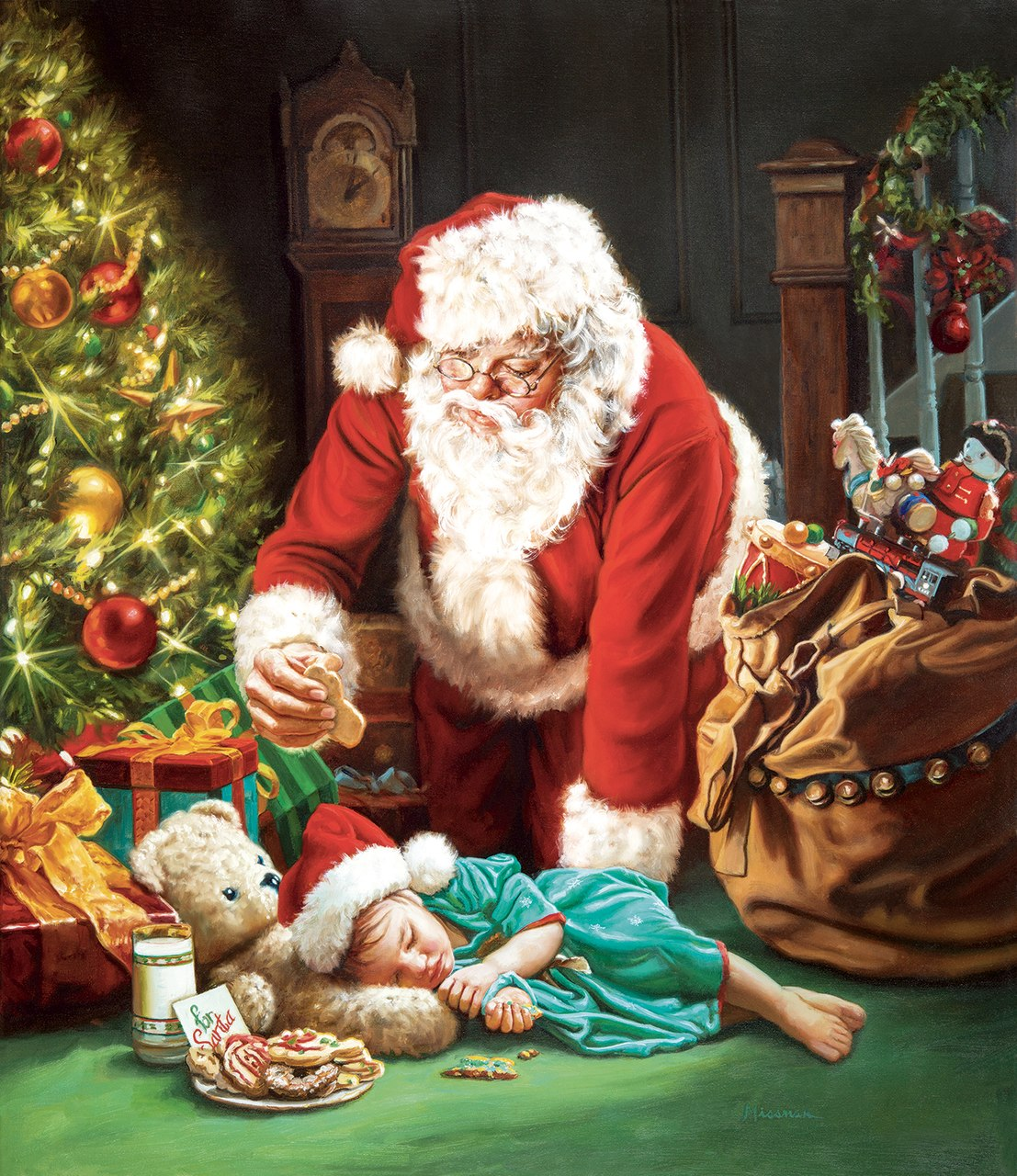A Cookie for Santa - 1000pc Jigsaw Puzzle by Sunsout  			  					NEW