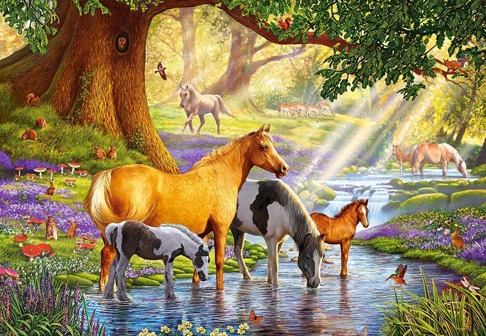 Horses By the Stream - 1000pc Jigsaw Puzzle By Castorland  			  					NEW