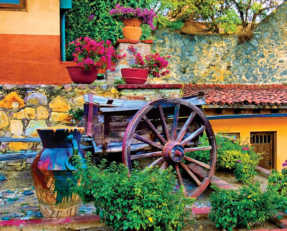 Colorful Courtyard - 1000pc Jigsaw Puzzle by Springbok - image main