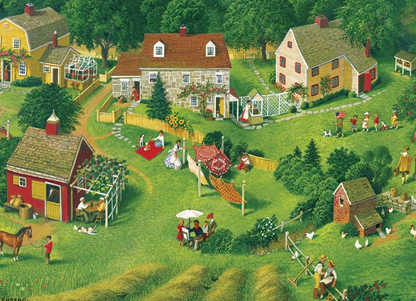Back Yards - 275pc Jigsaw Puzzle By Cobble Hill