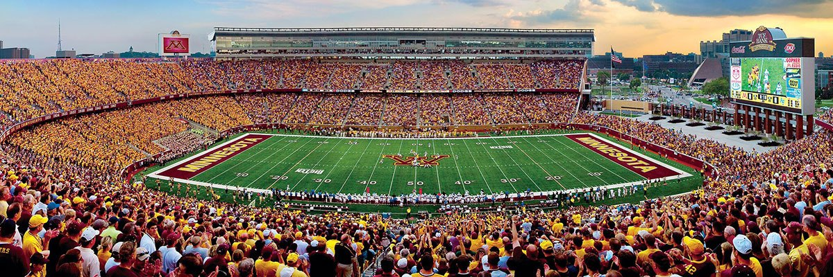 NCAA: Minnesota - 1000pc Panoramic Jigsaw Puzzle by Masterpieces