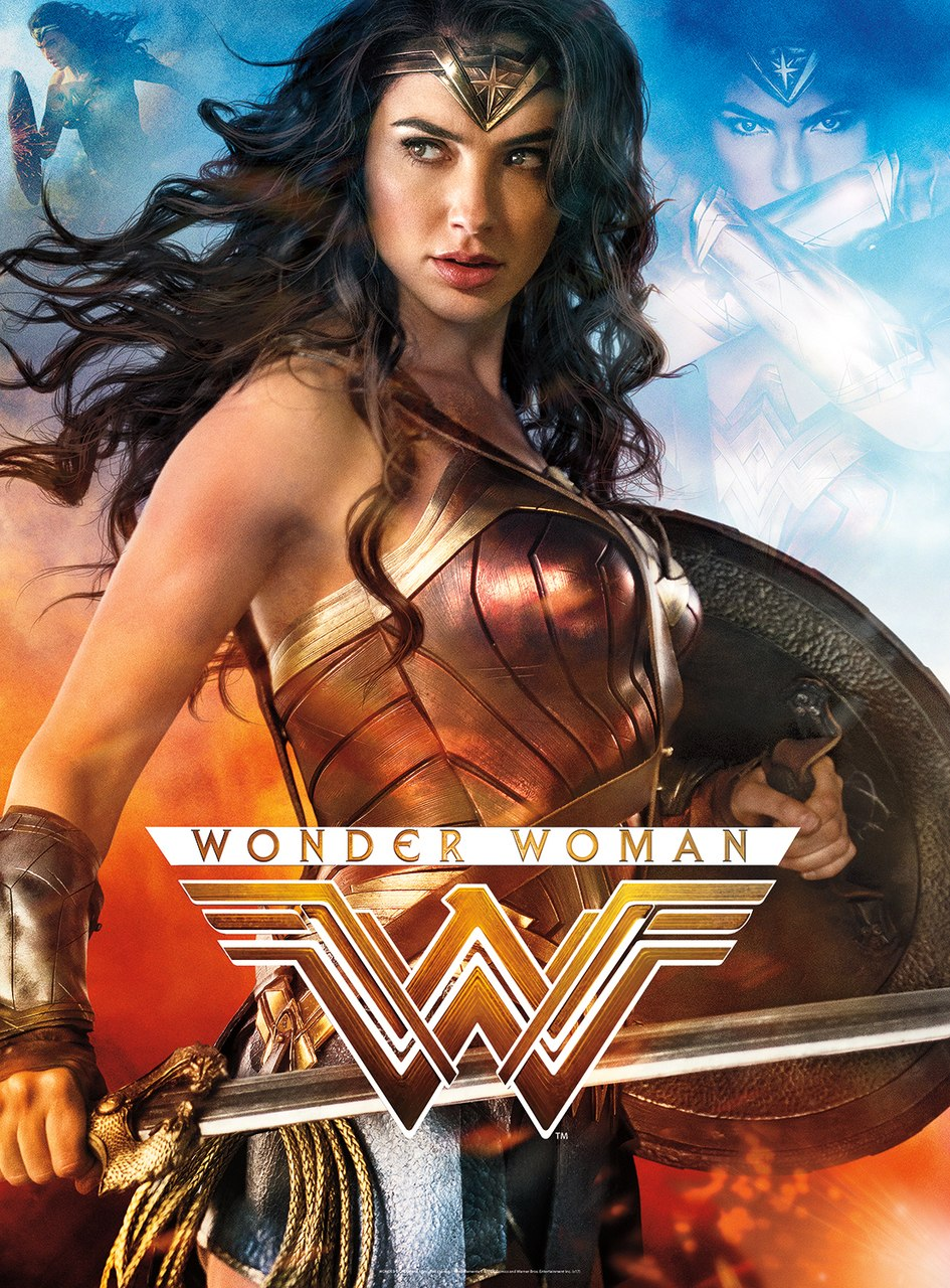 Wonder Woman - 1000pc Glow-in-the-Dark Jigsaw Puzzle By Buffalo Games - image main