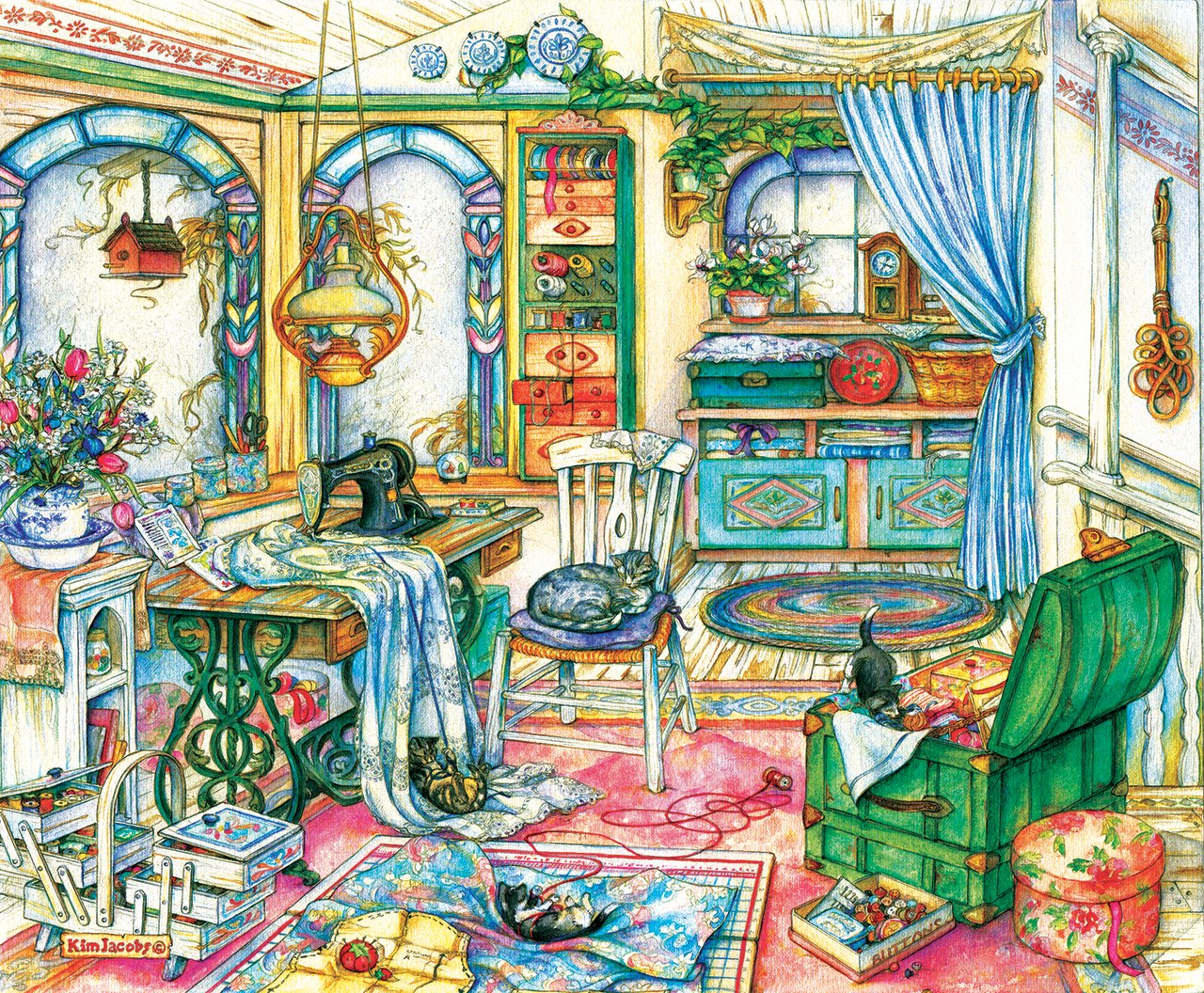 My Sewing Room - 1000pc Jigsaw Puzzle By Sunsout  			  					NEW