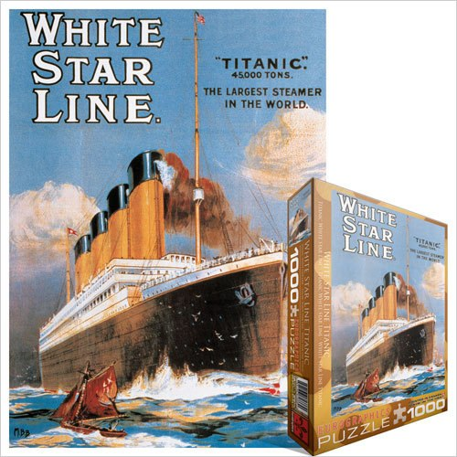 Titanic: White Star Line - 1000pc Jigsaw Puzzle by Eurographics