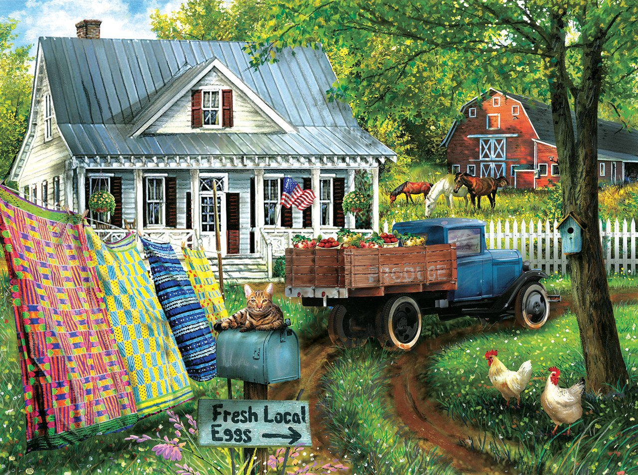 Countryside Living - 1000pc Jigsaw Puzzle By Sunsout  			  					NEW