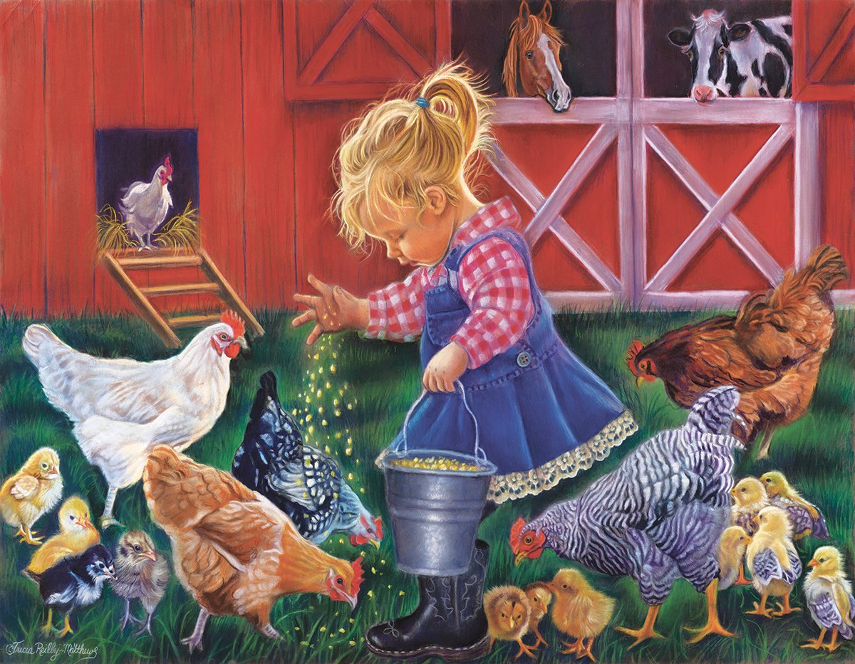 Farmer's Helper - 35pc Jigsaw Puzzle by Sunsout  			  					NEW